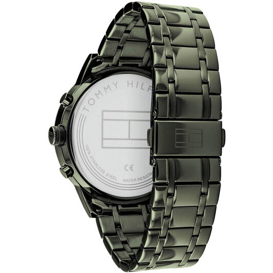 Tommy Hilfiger Men's Olive Grey Plated Watch