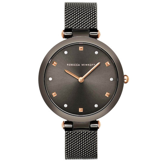 Rebecca Minkoff Ladies Nina Grey Plated Watch
