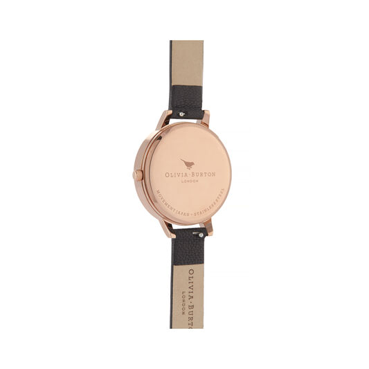 Celestial, Black & Rose Gold Watch
