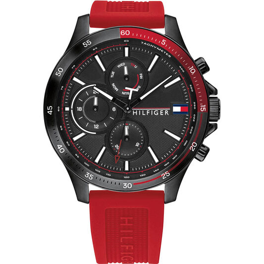 Tommy Hilfiger Men's Red Silicone Watch