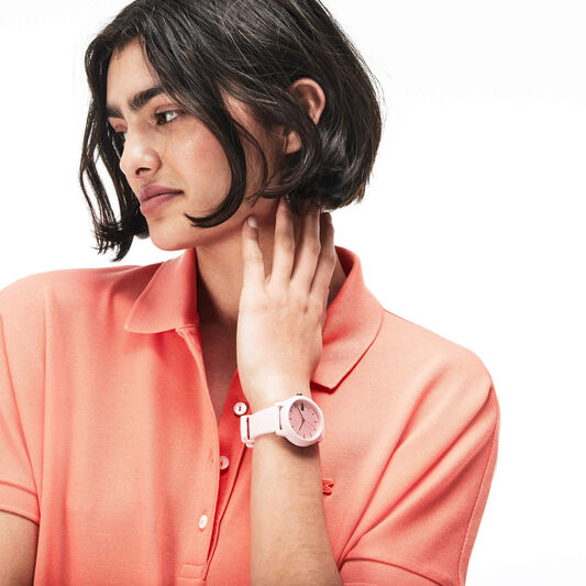Lacoste Ladies Lacoste.12.12 Pink Silicone Watch