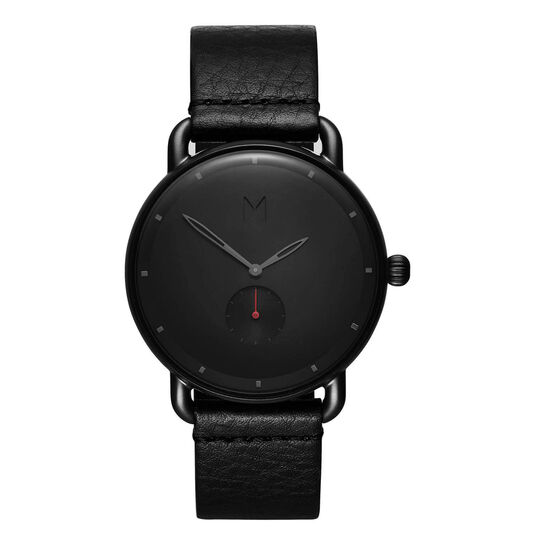 MVMT Men's Revolver Black Leather Watch