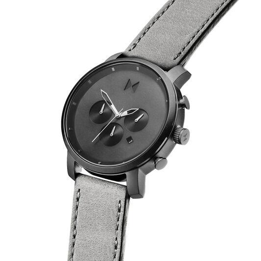 MVMT Men's Chrono Grey Leather Watch