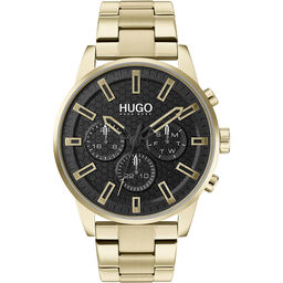 HUGO Men's #Seek Gold Plated Watch