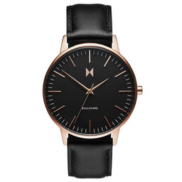 MVMT Ladies Boulevard Black Leather Watch