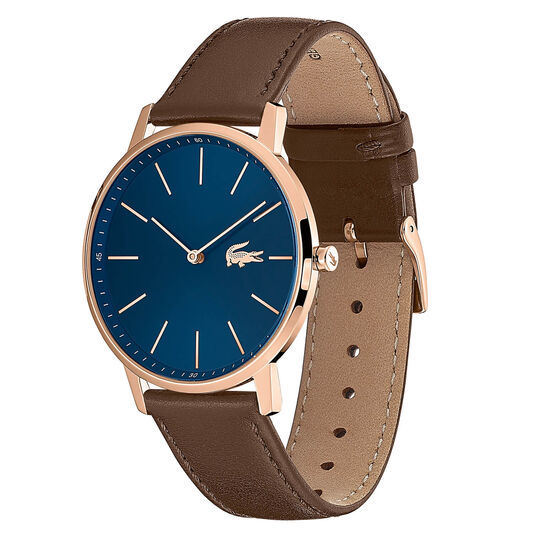 Lacoste Men's Moon Brown Leather Watch