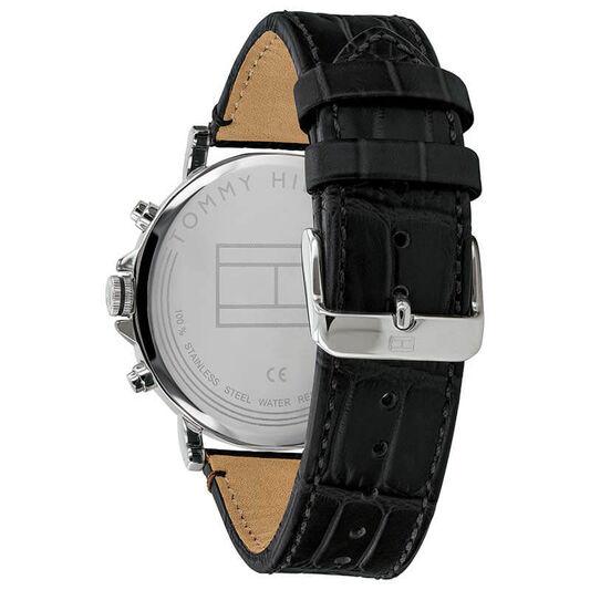 Tommy Hilfiger Men's Black Leather Watch