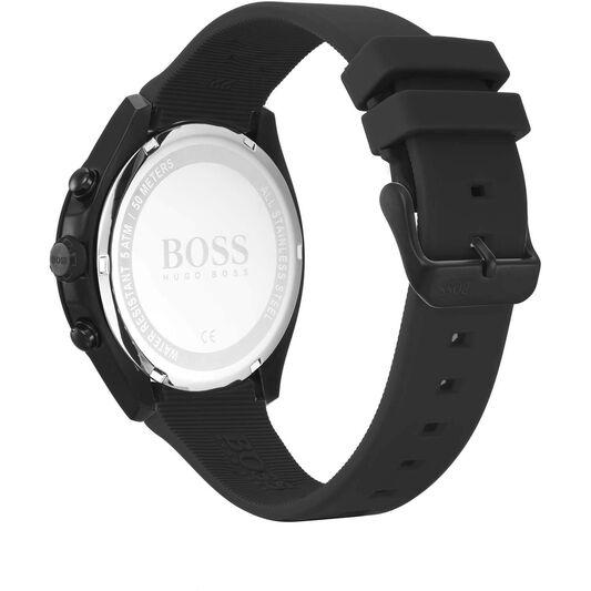 BOSS Men's Velocity Black Silicone Watch