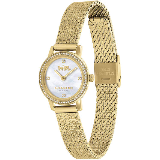 Coach Ladies Audrey Gold Plated Watch