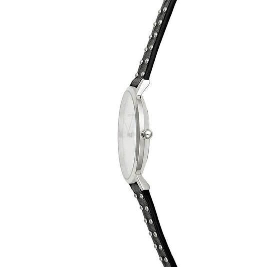Rebecca Minkoff Ladies Major Black Leather Watch
