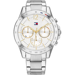 Tommy Hilfiger Ladies Grey Plated Watch
