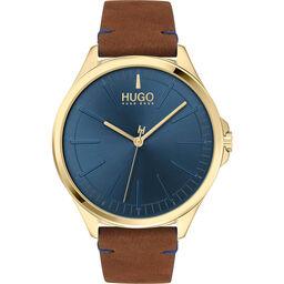 HUGO Men's #Smash Brown Leather Watch
