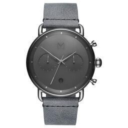 MVMT Men's Blacktop Grey Leather Watch