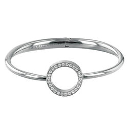 Tommy Hilfiger Ladies Silver Open Circle Bangle