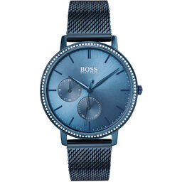 BOSS Ladies Infinity Blue Plated Watch
