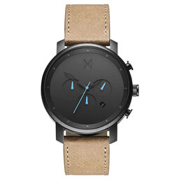 MVMT Men's Chrono Sandstone Leather Watch