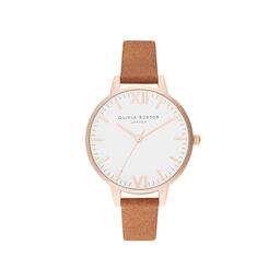 Timeless Tan & Rose Gold Watch