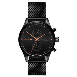 MVMT Men's Voyager Black Plated Watch