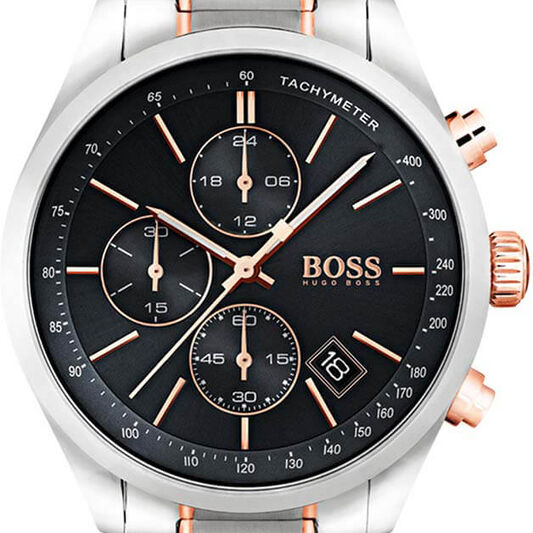 BOSS Men's Grand Prix Two-Tone Stainless Steel Watch