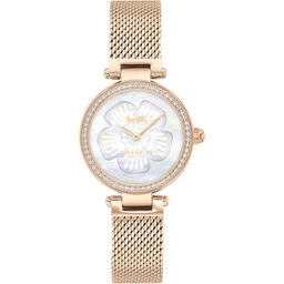 Coach Ladies Park Carnation Gold Plated Watch