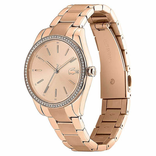 Lacoste Ladies Parisienne Carnation Gold Plated Watch