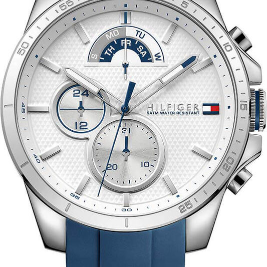 Tommy Hilfiger Men's Blue Silicone Watch
