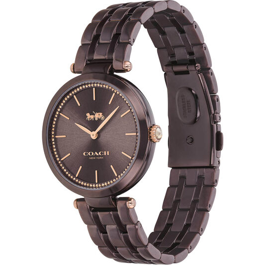 Coach Ladies Park Brown Plated Watch