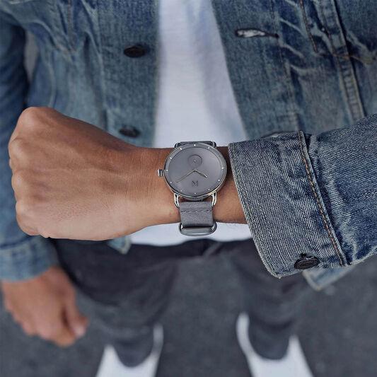 MVMT Men's Revolver Grey Leather Watch