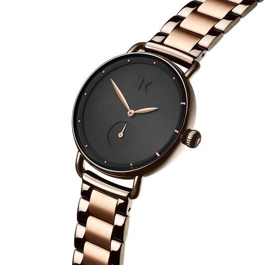 MVMT Ladies Bloom Taupe & Rose Gold Plated Watch
