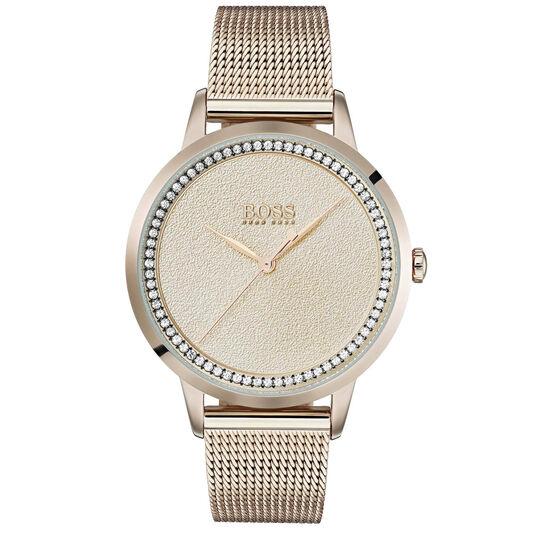 BOSS Ladies Twilight Carnation Gold Steel Watch