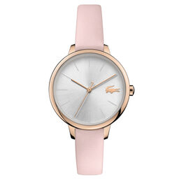 Lacoste Ladies Cannes Pink Leather Watch