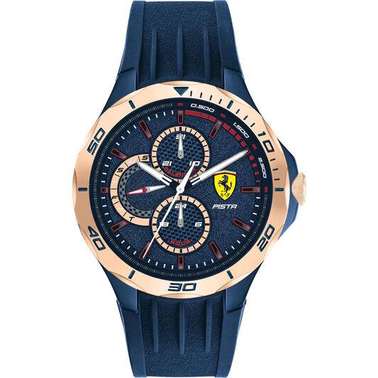 Scuderia Ferrari Men's Pista Blue Silicone Watch