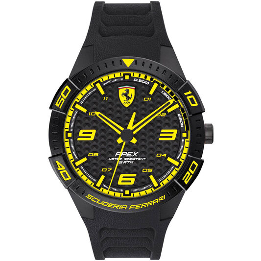 Scuderia Ferrari Men's Apex Black Silicone Watch
