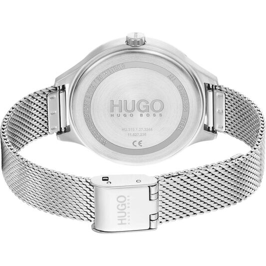 HUGO Ladies #Smash Carnation Gold Plated Watch