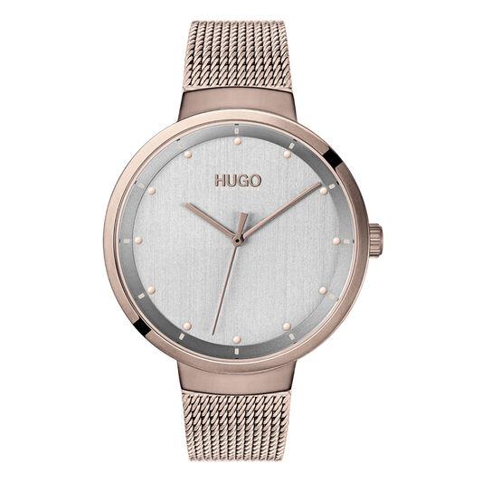 HUGO Ladies #GO Carnation Gold Plated Watch