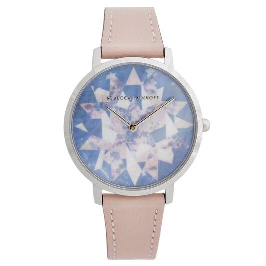 Rebecca Minkoff Ladies Major Blush Leather Watch