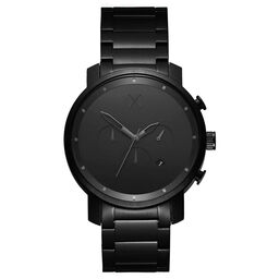 MVMT Men's Chrono Black Plated Watch