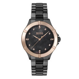 BOSS Ladies Mini Sport Grey Plated Watch