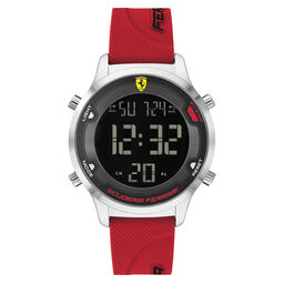 Scuderia Ferrari Men's Digitrack Red Silicone Watch