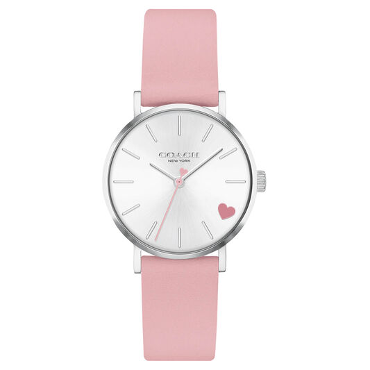 Coach Ladies Perry Pink Calfskin Watch