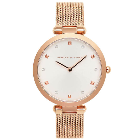 Rebecca Minkoff Ladies Nina Rose Gold Plated Watch