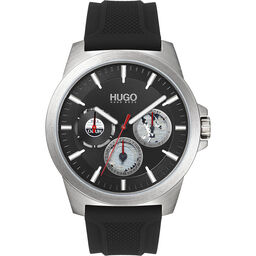 HUGO Men's #Twist Black Silicone Watch