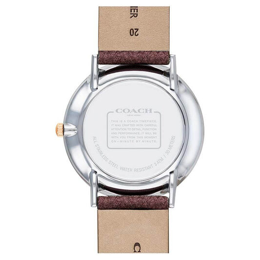 Coach Ladies Perry Cherry Calfskin Watch