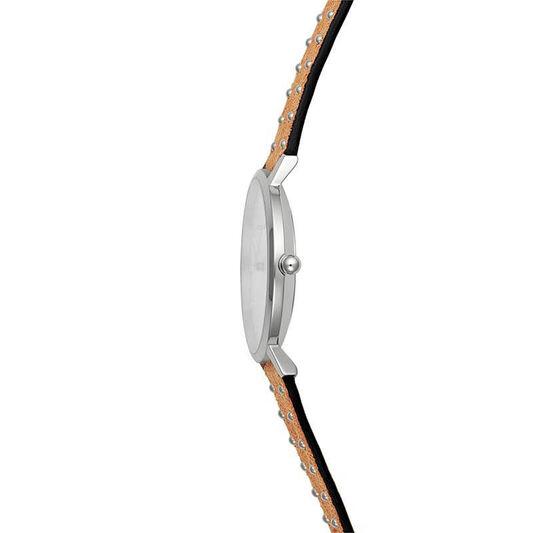 Rebecca Minkoff Ladies Major Honey Suede Leather Watch