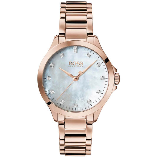 BOSS Ladies Diamonds For Her Carnation Gold Steel Watch