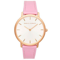 Rebecca Minkoff Ladies Major Orchid Leather Watch