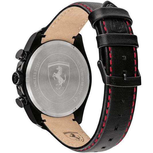 Scuderia Ferrari Men's Speedracer Black Leather Watch
