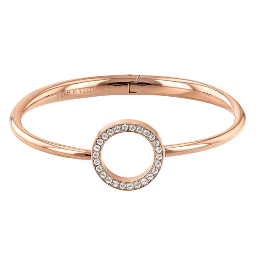 Tommy Hilfiger Ladies Rose Gold Open Circle Bangle