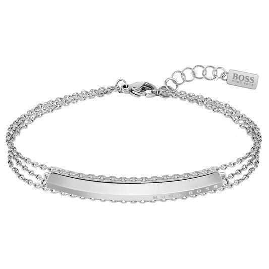 BOSS Ladies Insignia Stainless Steel Bracelet