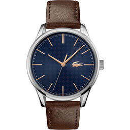 Lacoste Men's Vienna Brown Leather Watch